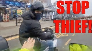 Stupid, Crazy & Angry People Vs Bikers 2019 [Ep.#606] MOPED THIEF CHASE!!!
