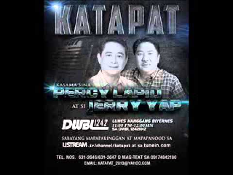 Katapat with Percy Lapid and Jerry Yap  nov 5, 2013