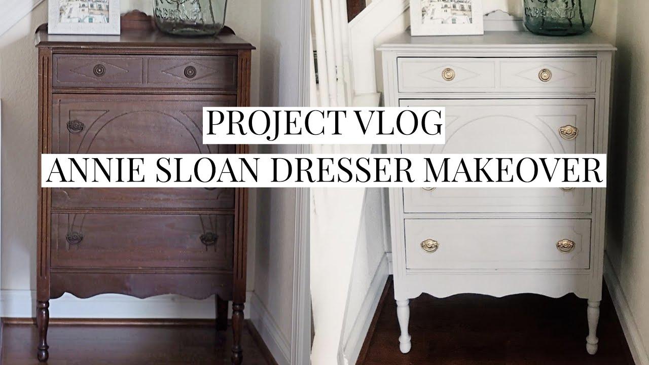 Annie Sloan Chalk Paint Dresser Makeover Project Vlog