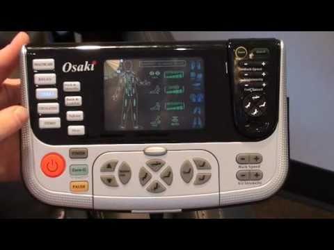 how to use the osaki os4000 remote - Osaki Os4000