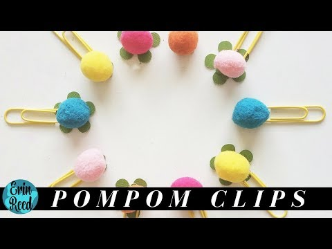 DIY Pompom Paperclips for an Embellishment Swap