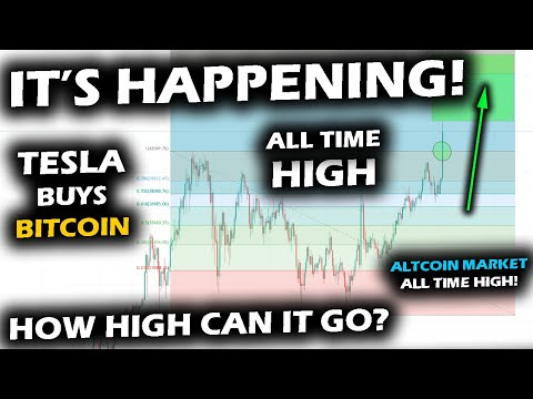 A MONSTER DAY For The BITCOIN Price Chart As TESLA BUYS BTC And Altcoin Market Hits All Time High