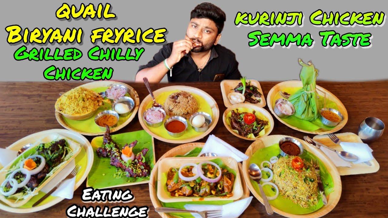 CHILI GRILL CHICKEN & QUAIL BIRYANI FRIED RICE | Kurinji Restaurant Sivakasi | FOOD REVIEW