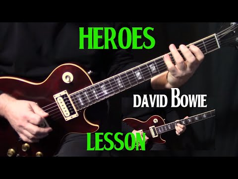 "how to play ""Heroes"" on guitar by David Bowie 