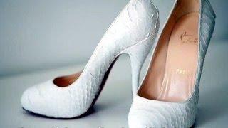 Свадебные туфли на каблуке купить