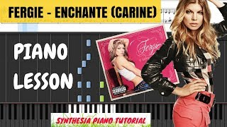 Enchanté (Carine) || Fergie - Double Dutchess Piano Cover / Tutorial || Synthesia + SHEETS