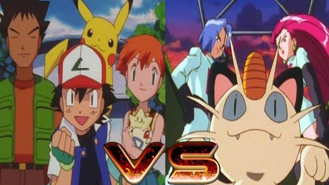 Pokemon Stadium Ash,Misty and Brock Vs Team Rocket part 1 ...
