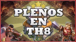 BUENOS EJERCITOS PARA HACER PLENOS EN GUERRA CON TH8 - Clash of Clans