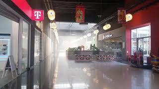 Incendiu Auchan Bacau