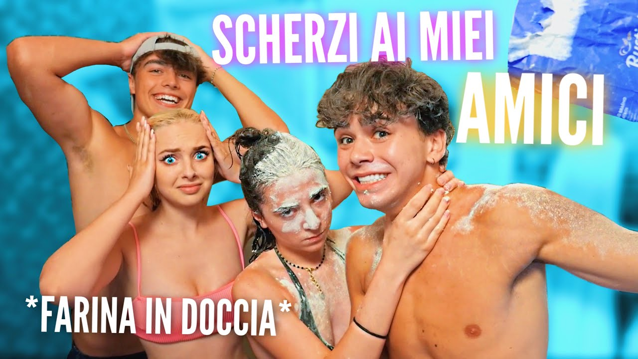 Faccio SCHERZI ai miei amici per 24H! *farina sotto la doccia* | Luciano Spinelli