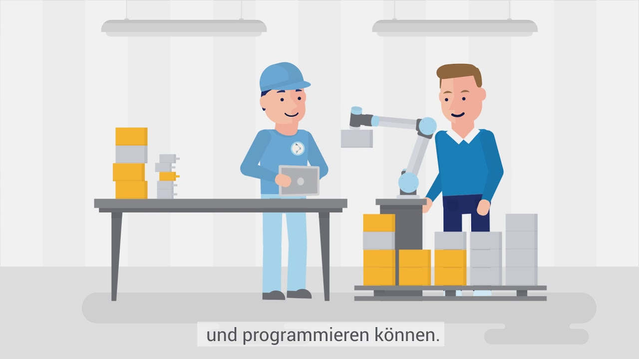 Büroarbeitsplatz clipart  Wie Universal Robots Monotonie am Arbeitsplatz entgegenwirkt - YouTube