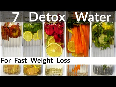 7 Detox Water Recipes For Fast Weight Loss In Hindi | Infused Water To Lose Belly Fat | Flat Belly