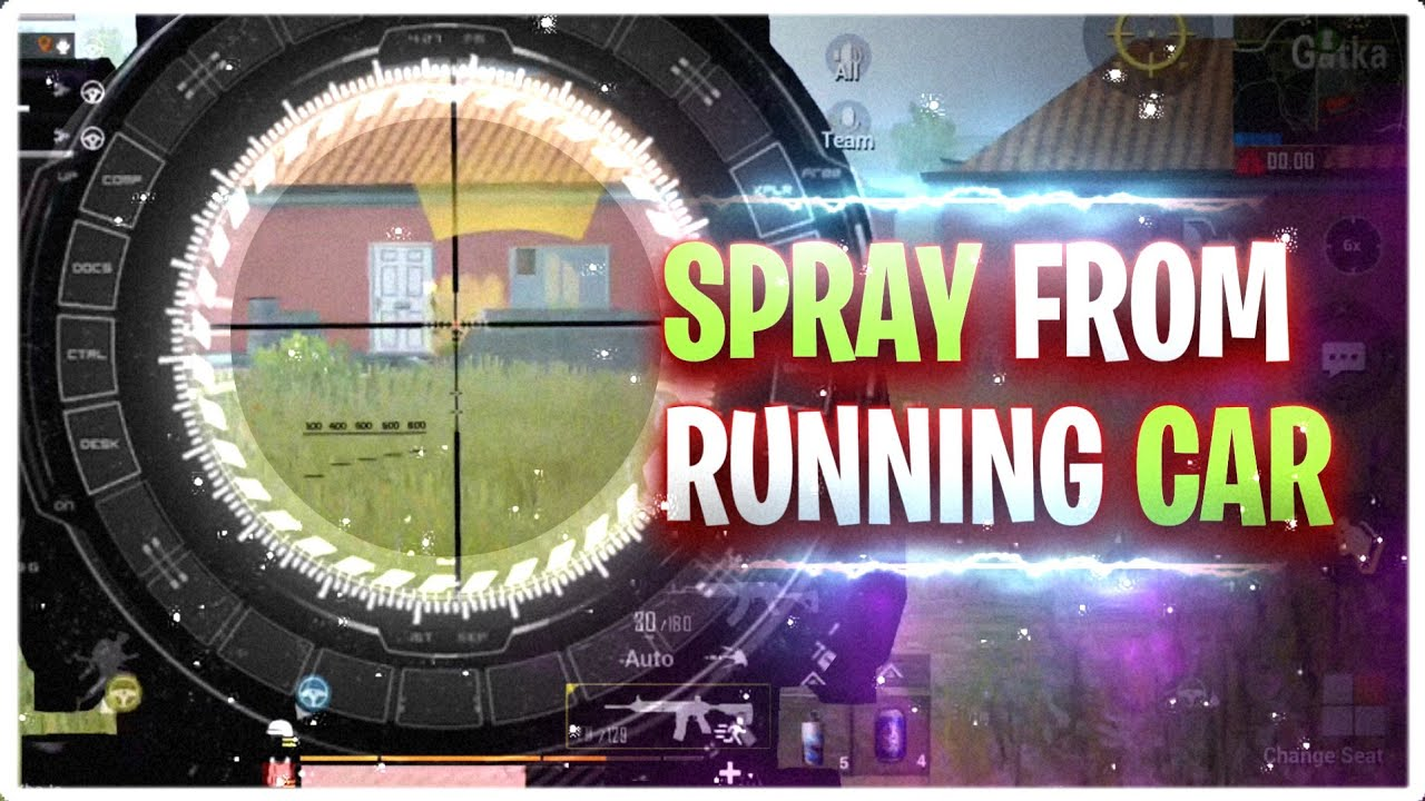 Spray From Running Car | Rage Spray | Pubg Mobile Gameplay - Potter Gaming