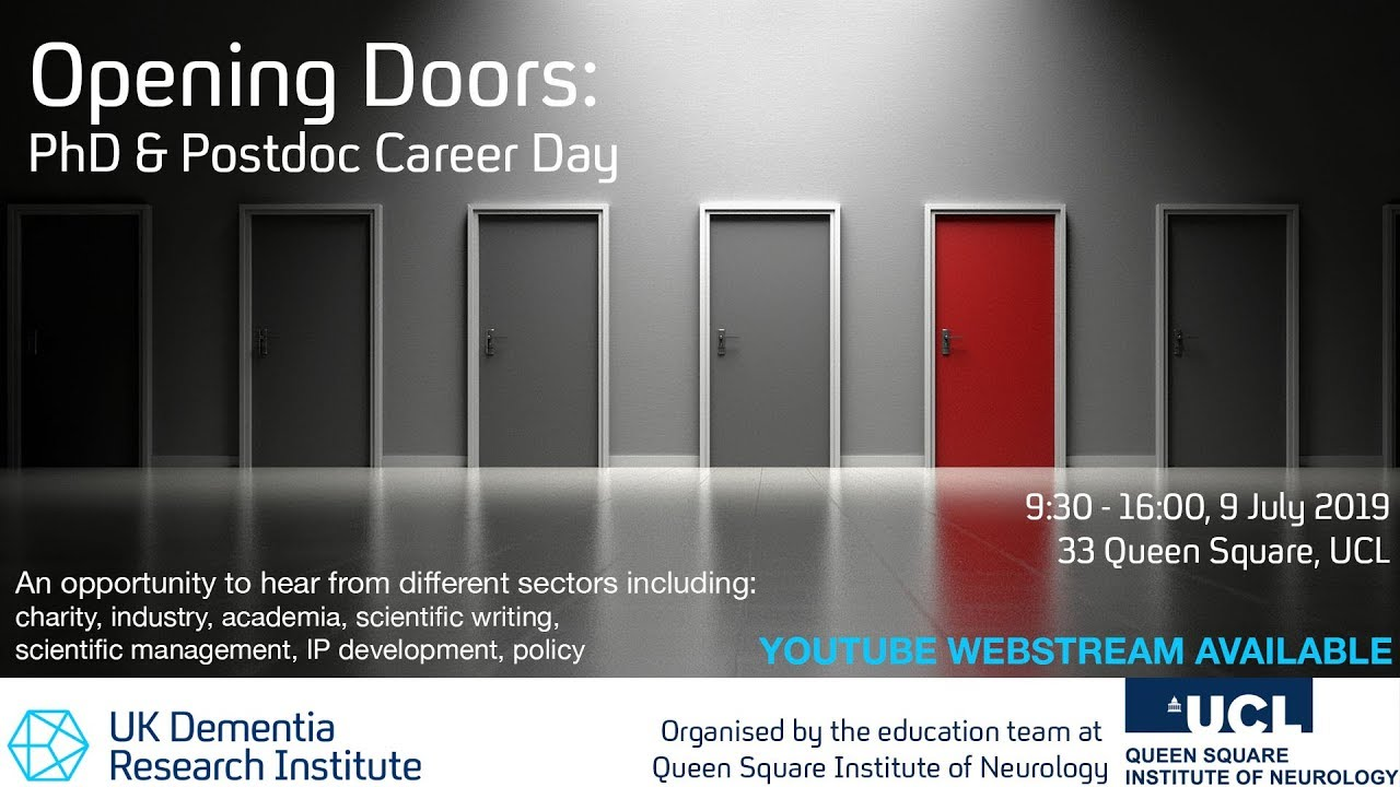 UCL Careers – Opening Doors: PhD and Postdoc Career Day