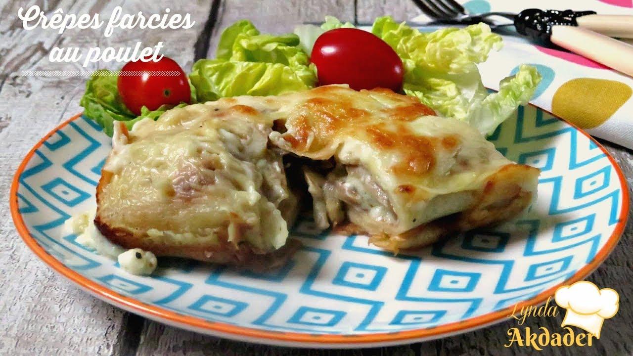 recette de crêpes farcies au poulet et champignons par ...