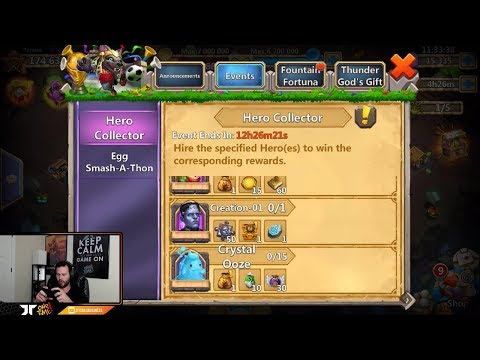 JT's Free 2 Play Hero Collector 5000 GEMS ONETIME Castle Clash