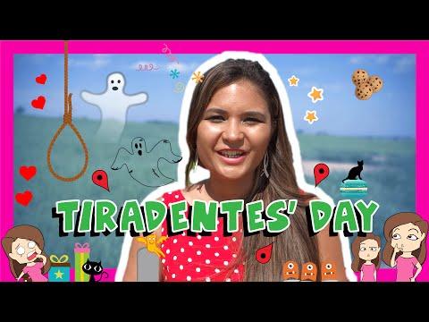 Brazilian Portuguese TIRADENTES' DAY Words with Paloma