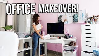 RE-DOING MY OFFICE!! Office Makeover!!