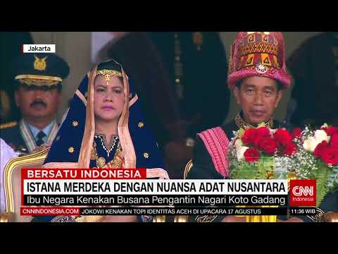 Istana Merdeka Dengan Nuansa Adat Nusantara, Jokowi Kenakan Pakaian Adat Aceh