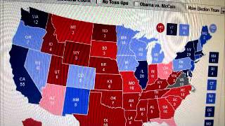 U.S. Presidential Election 2012 Electoral College Projection, 11/5/2012