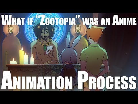 """What if """"Zootopia"""" was an Anime (Process)"""