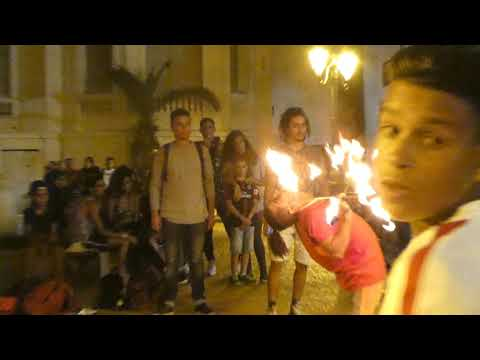Crazy Epic Acrobats and Fire Artists in Rabat [Grainy 4K]