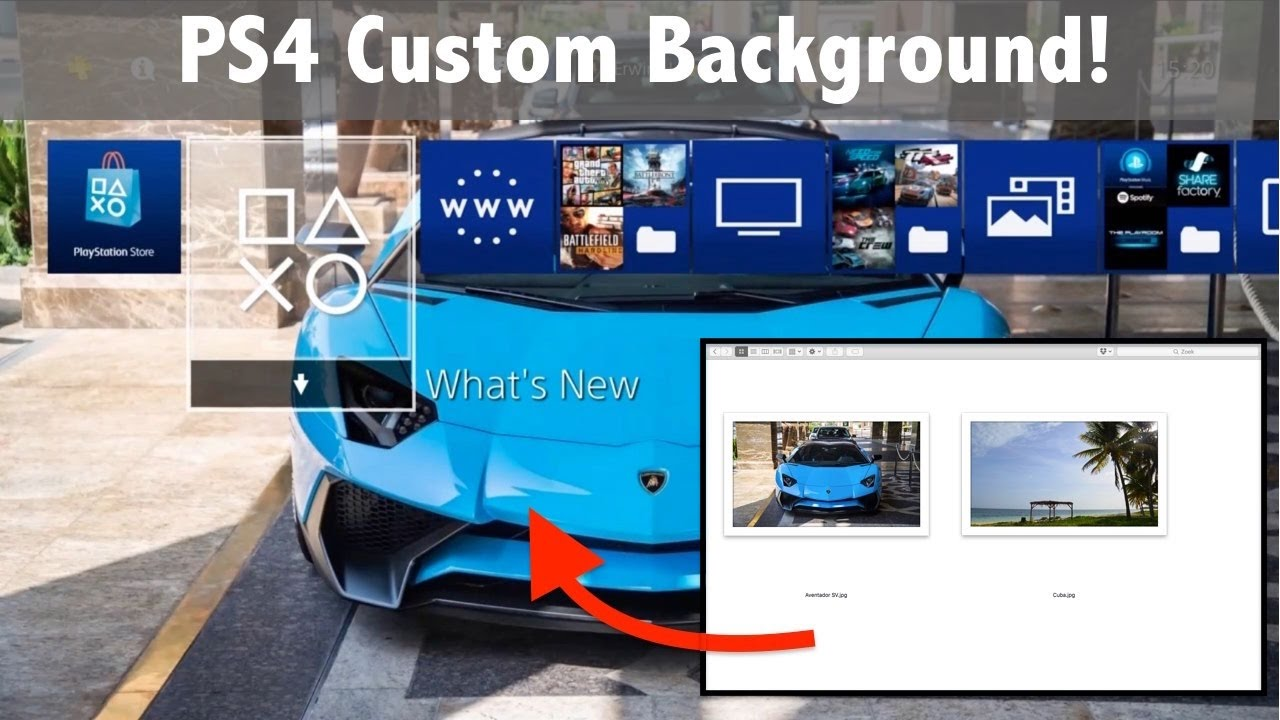 Ps4 How To Create Custom Wallpaper Use Your Own Photo As