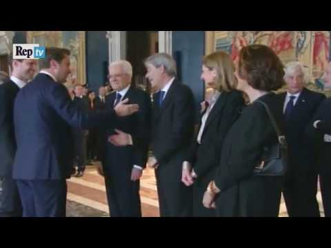 """Il Premier Lussemburghese a Mattarella """"Le Presento mio Marito"""""""