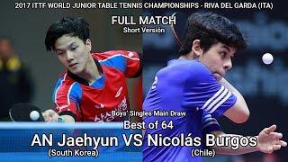 Mundial Juvenil 2017: Nicolas Burgos (Chile) vs AN Jaehyun (South Korea) - Round of 64