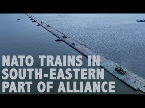 NATO troops train in the south-eastern part of the Alliance