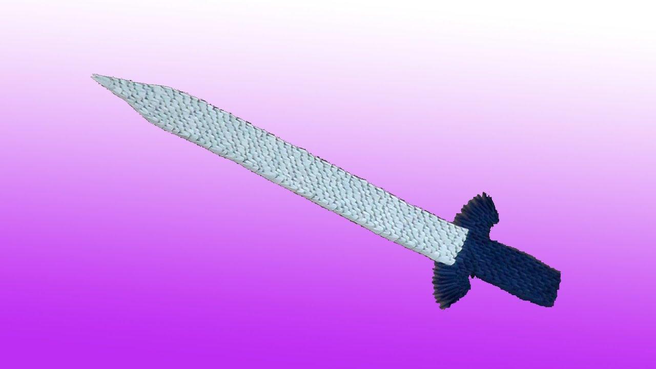 3D origami sword (blade) tutorial - YouTube