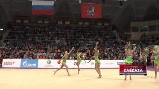 Номер 2 ленты + 3 мяча российской сборной по художественной гимнастике(http://www.vestikavkaza.ru/video/, 2014-03-07T13:49:28.000Z)