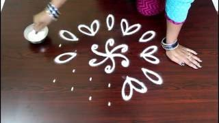 Video chukkala muggulu designs 7 to 4 interlaced dots- kolam designs- rangoli designs with dots download MP3, 3GP, MP4, WEBM, AVI, FLV April 2018