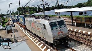 Osterhofen (Nby) mit ICE-T, Donau-Isar-Express ET 440, BR 185 +TXL, ÖBB Taurus, Railpool Vectron