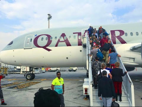 B787 DREAMLINER TO BRUSSELS ONBOARD QATAR AIRWAYS