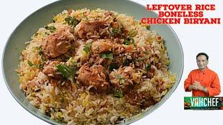 Left Over Rice Boneless Chicken Instant Biryani - Chicken Biryani Masaladar   vahcef cooking