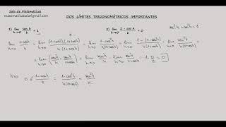 Límites.Demostración lim [(1-cosh)/h] =0 cuando h tiende a 0