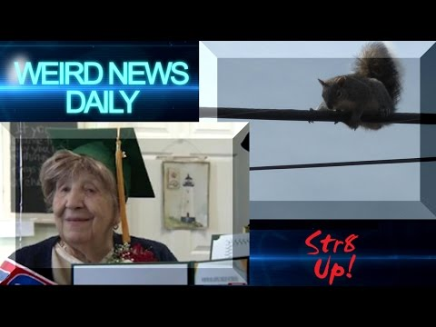 Squirrel Conspiracy, Centenarian Diploma and more! | Weird News Daily for Saturday, Aug. 20, 2016