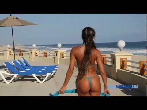 Blue G-String Bikini & Cover Up - Ujena Swimwear