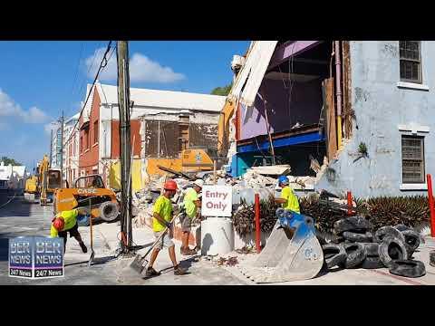 Demolition Taking Place On East Broadway, September 26 2020