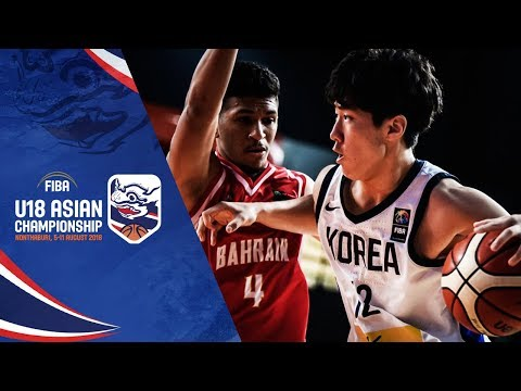 Bahrain def. Korea, 100-93 (REPLAY VIDEO) FIBA Asia U18 Battle for 7th