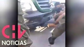 Criminal se escondió debajo de retén móvil escapando de Carabineros y se resistía a salir