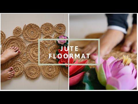 how-to-make-jute-floor_mat-using-waste-material-(हिंदी)-||-interior-maata
