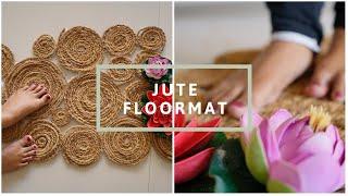 HOW TO MAKE JUTE FLOOR_MAT USING WASTE MATERIAL (हिंदी) || Interior Maata