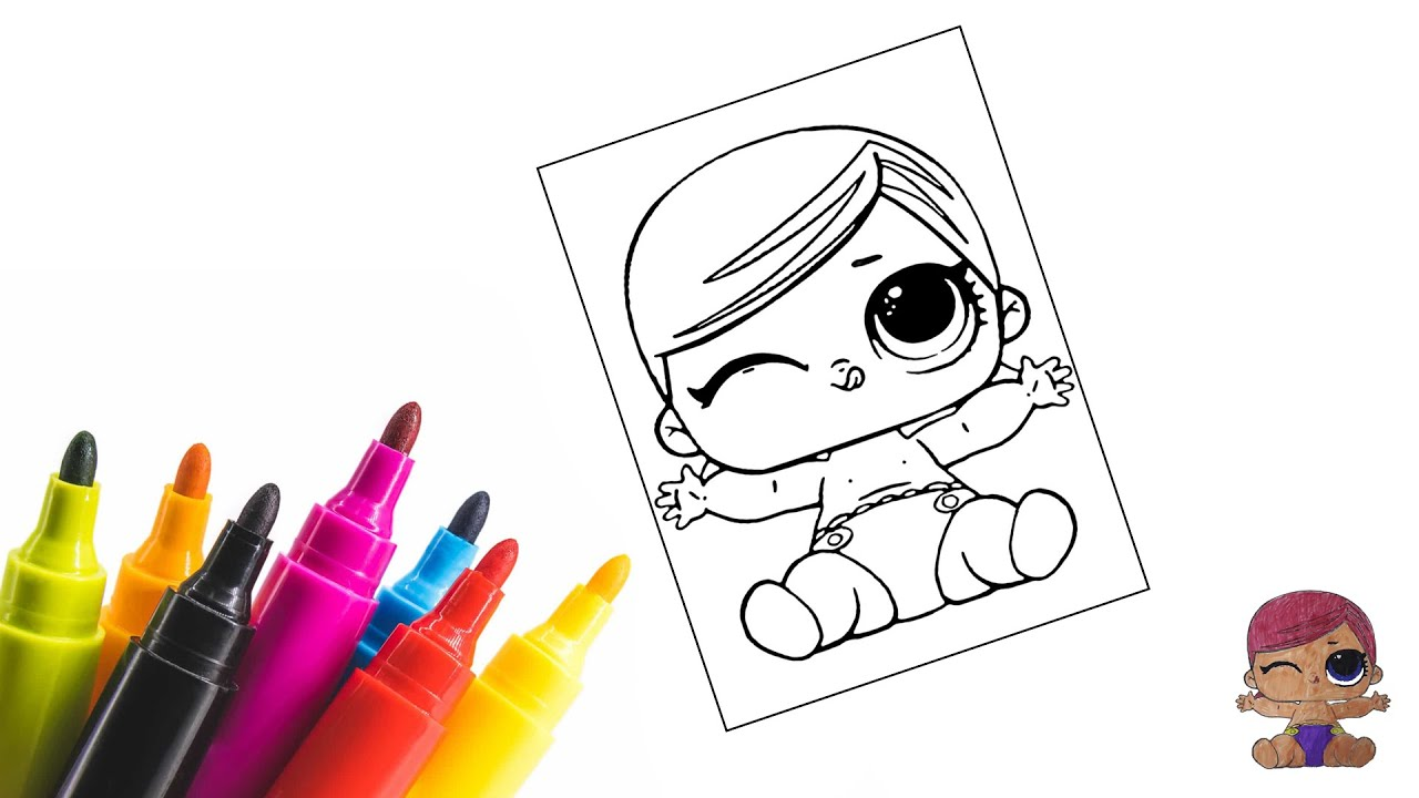 Раскраска малышки Куклы ЛоЛ / Coloring LOL Surprise Dolls ...