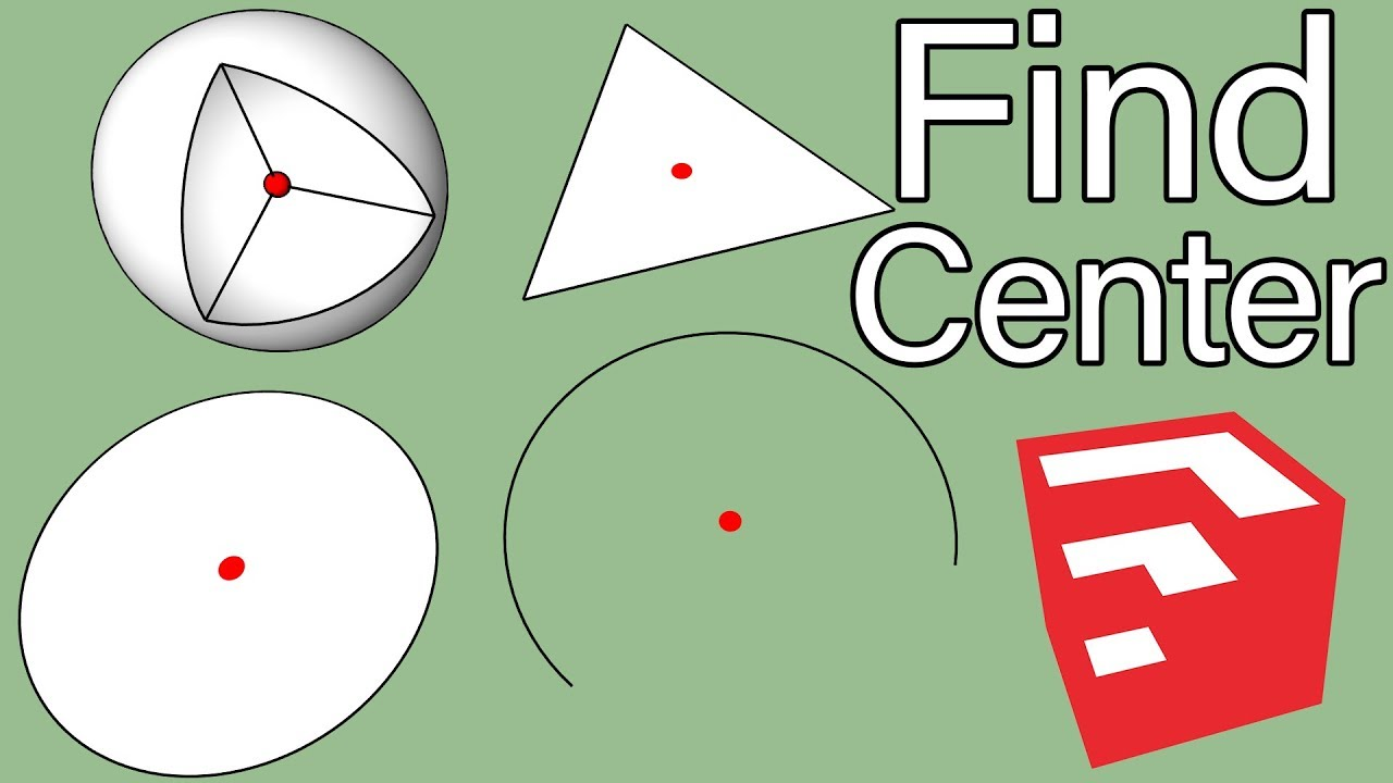 Three Ways To Find Center In SketchUp