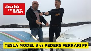 Peders Ferrari FF vs Tesla Model 3