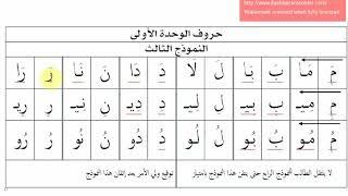 نطق حروف الوحدة الأولى لغتي الفصل الدراسي الأول