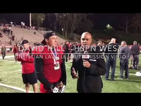 Christian LaValle Mission Viejo MVP INTERVIEW - LIVE HIGH SCHOOL FOOTBALL