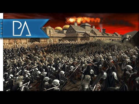 Battle of the Temple of Melkor: Stand of the Black Númenóreans - Third Age Total War Mod Gameplay